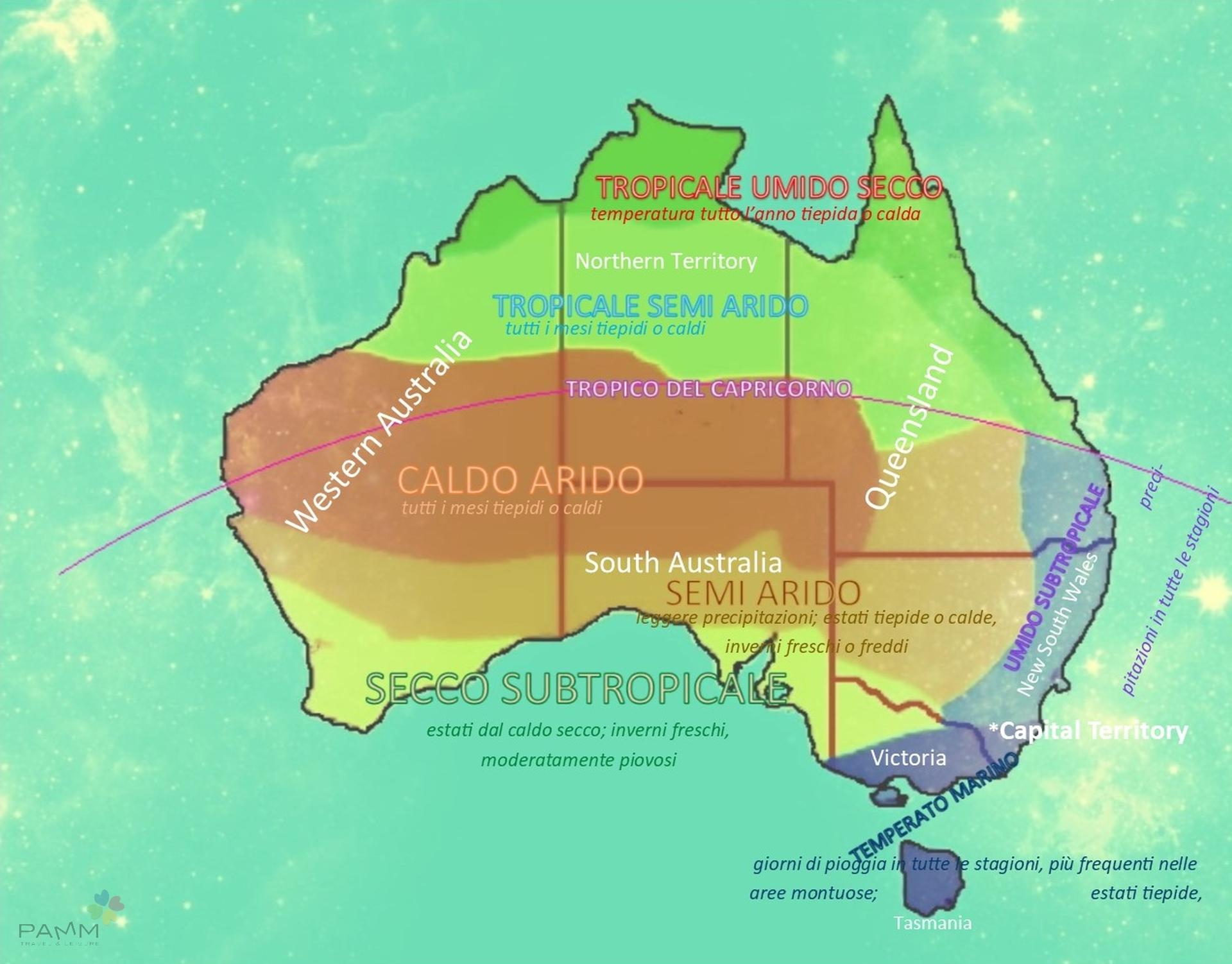 Viaggiare in Australia Meteo Climi e Territori