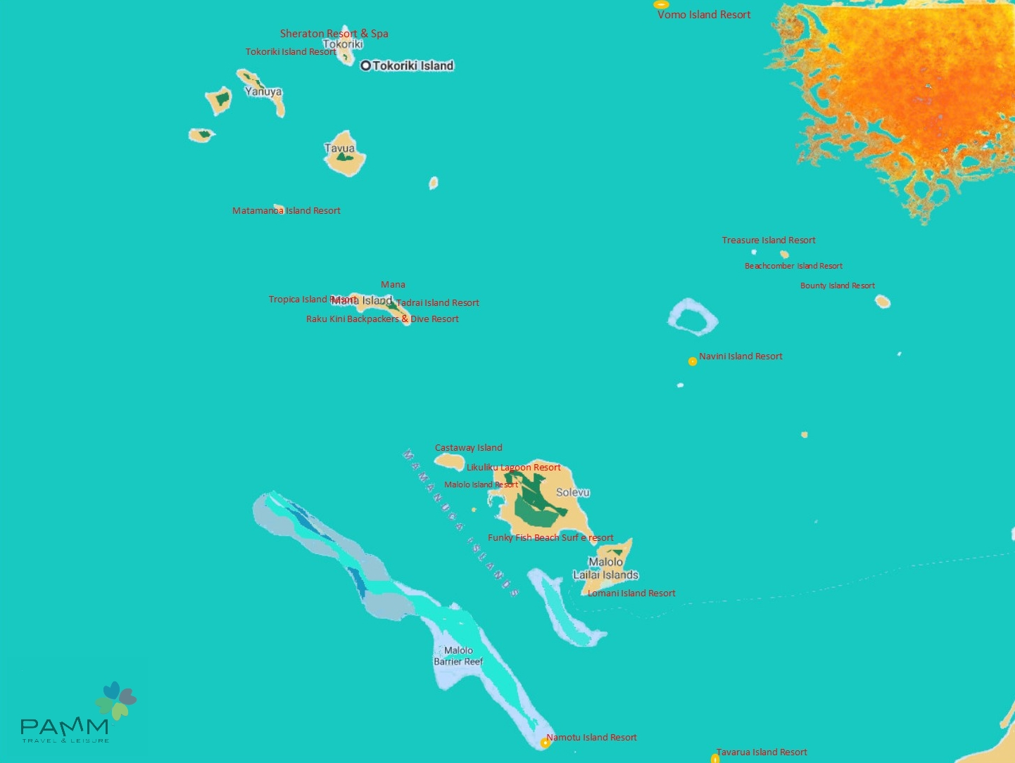 Fiji Mamanuca Resort e Isole